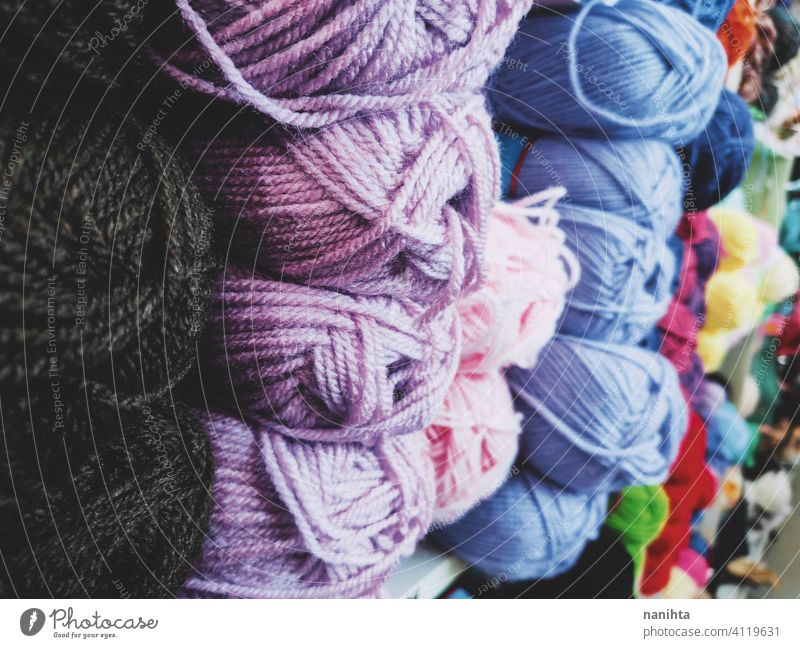 Background full of wool balls woolen knit knitting background textile texture color colorful warm winter diy crochet close close up store haberdashery many lot