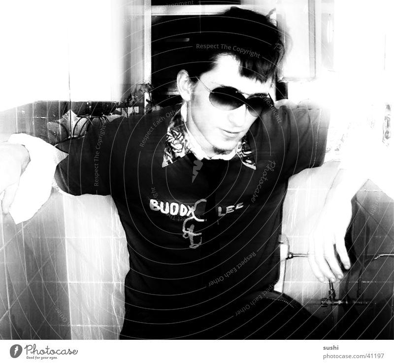 punk II Man Masculine Punk Black & white photo Contrast