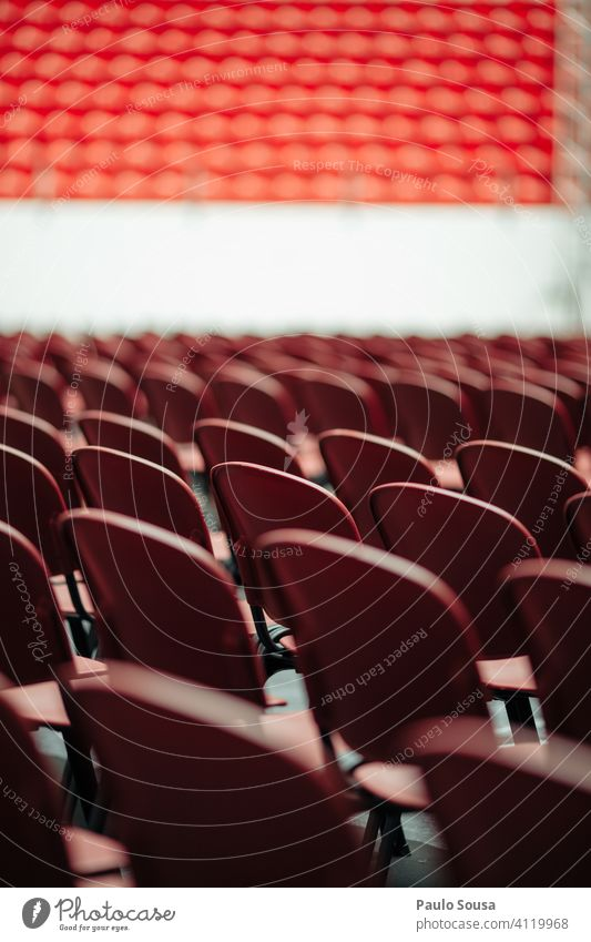Empty seats in event Seat Seating Chair Event Concert restriction Restrict Many Row of chairs Seating capacity Places Audience Deserted Row of seats Free