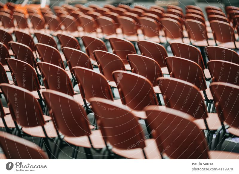 Empty seats in event Seating Audience Concert Event nobody Many Free Deserted Places Seating capacity Pattern Structures and shapes Row of chairs Row of seats