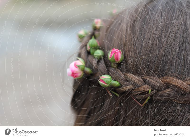 Human being Child Summer Flower Spring Hair and hairstyles Bud Flower wreath