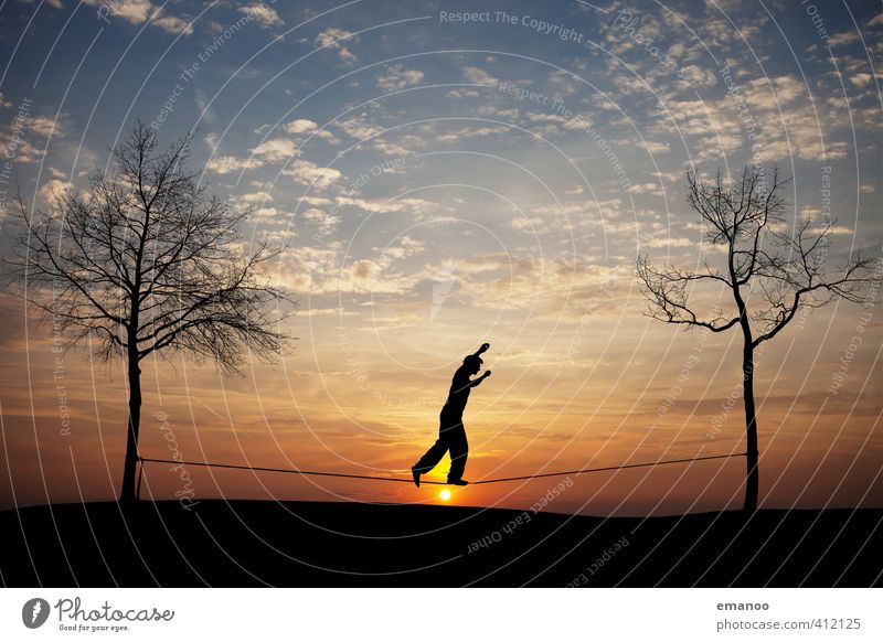 Human being Sky Nature Man Youth (Young adults) Sun Tree Joy Adults Sports Freedom Style Horizon Body Leisure and hobbies Walking