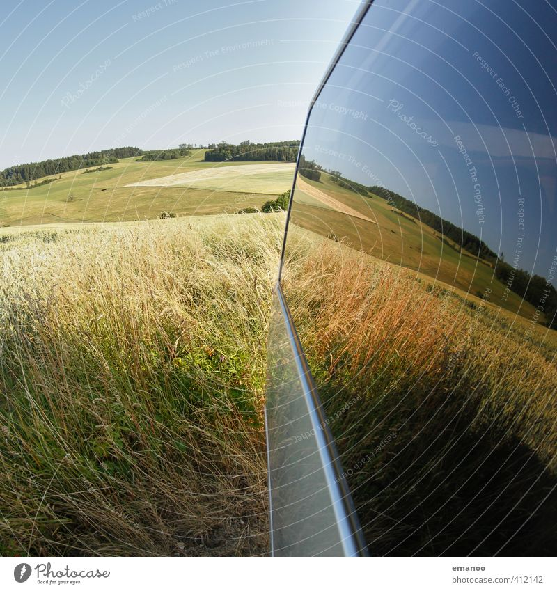 Sky Nature Blue Green Plant Summer Landscape Dark Meadow Warmth Grass Car Window Weather Field Climate