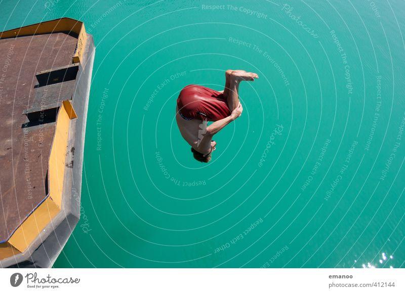 Excavator lake salto II Lifestyle Style Joy Swimming & Bathing Leisure and hobbies Vacation & Travel Summer Sun Sports Aquatics Sportsperson Human being Man