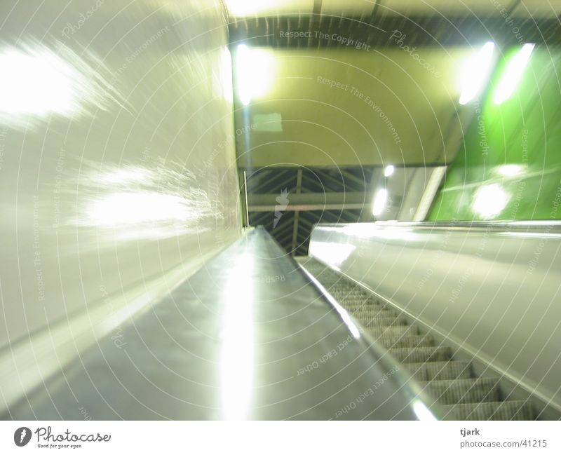 Berlin Underground Escalator Station London Underground Night Photographic technology Distorted