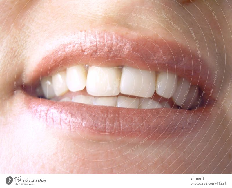 Woman White Red Joy Nutrition Laughter Mouth Teeth Lips Kissing Lust Dentist Bite Alluring