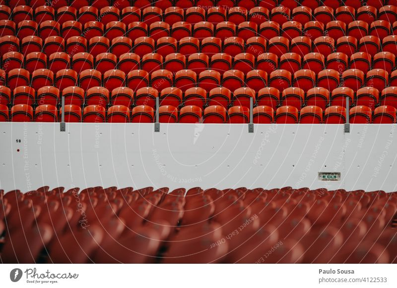 Empty seats in event Seating Cancelation Concert Audience Stadium Crowd of people Sit Row of chairs Row of seats Event Chair Seating capacity Places Free