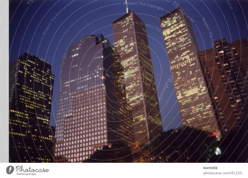 WTC World Trade Center Night High-rise Building New York City House (Residential Structure) Architecture