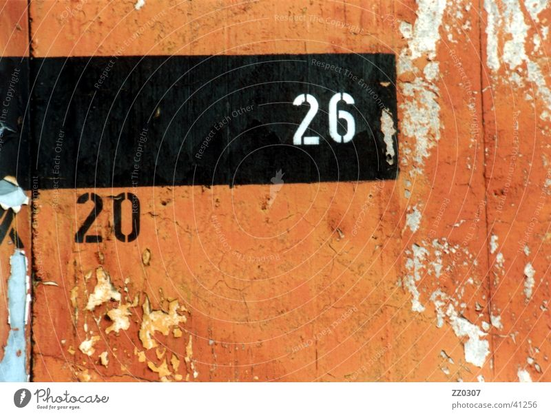 20-26 Wall (building) Wall (barrier) Terracotta Black Broken Obscure aircraft parking Colour