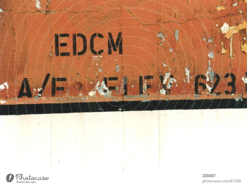 EDCM Wall (building) Wall (barrier) Terracotta Black Broken Obscure aircraft parking Colour
