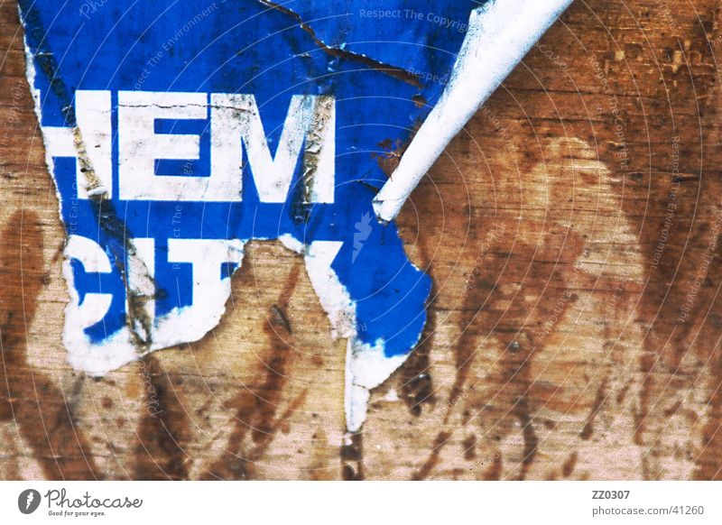 HEM Poster Billboard Wood Typography Broken Dirty Obscure Vernacular Type