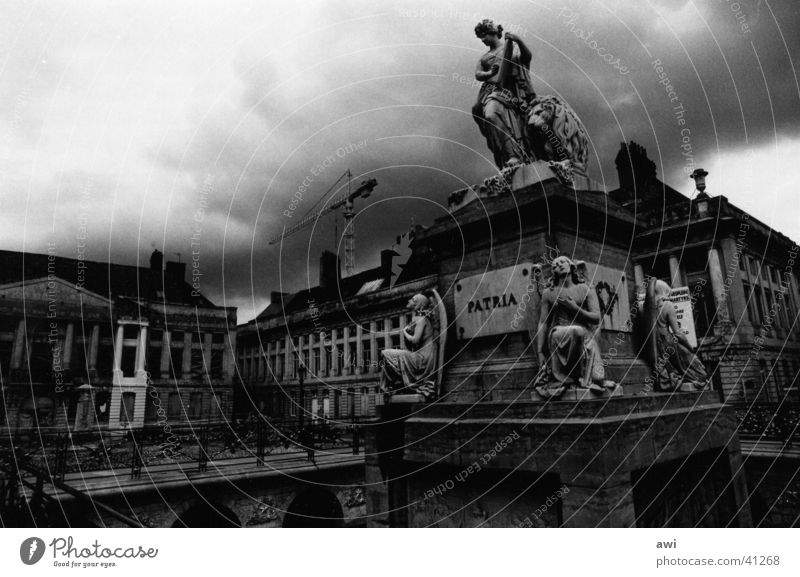 City Clouds Dark Architecture Places Monument War monument