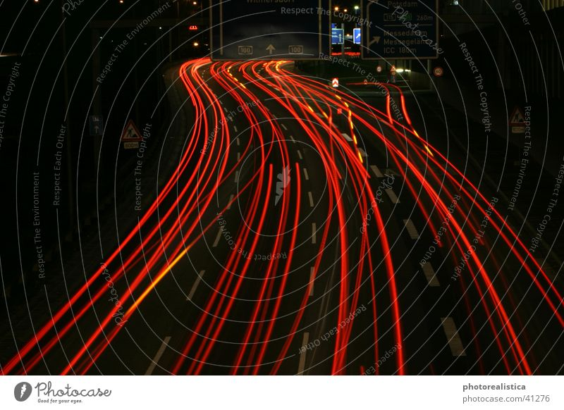 night traffic Light Night Transport Highway Berlin Car Street icc Bridge