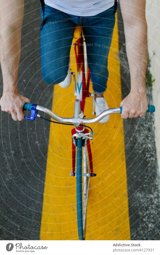 Handlebar of a bike bicycle fixie urban wheel fixed sport transportation gear lifestyle wall street hipster ride pedal man biking chain action cyclist outdoor