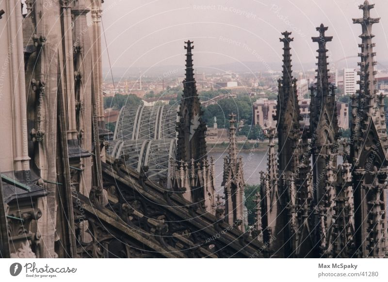 """Down from the cathedral"" Cologne Historic Dome Rhine strewing"