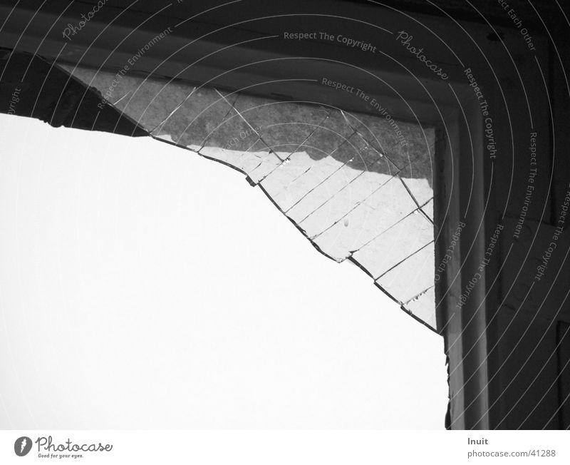Splinter 02 Window Broken Obscure Black & white photo Glass