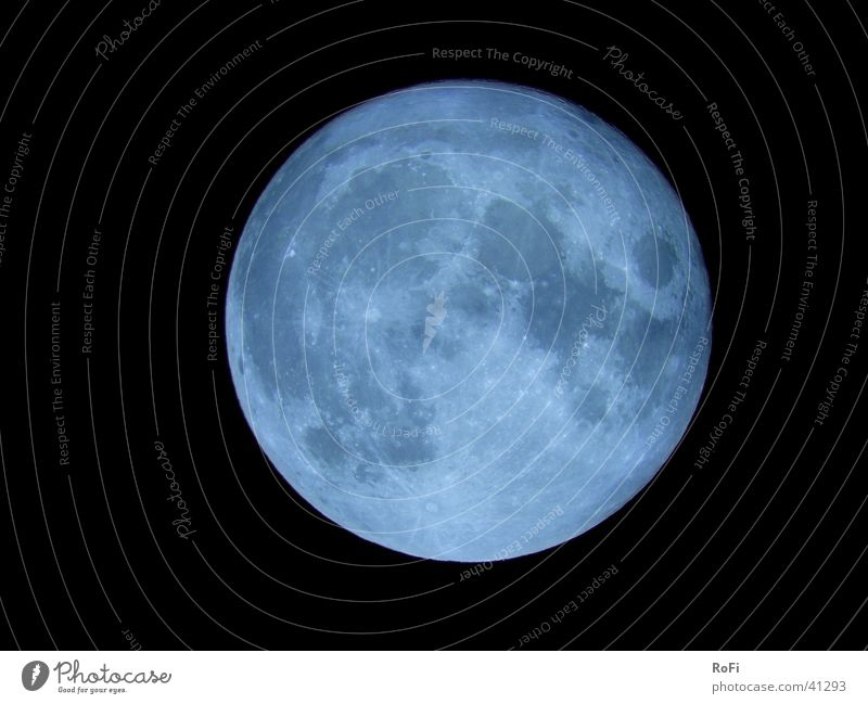 blue moon Full  moon Night Celestial bodies and the universe Planet Telescope Moon Sky
