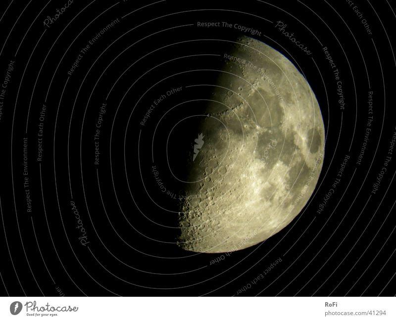 Sky Black Dark Moon Planet Telescope Celestial bodies and the universe Half moon