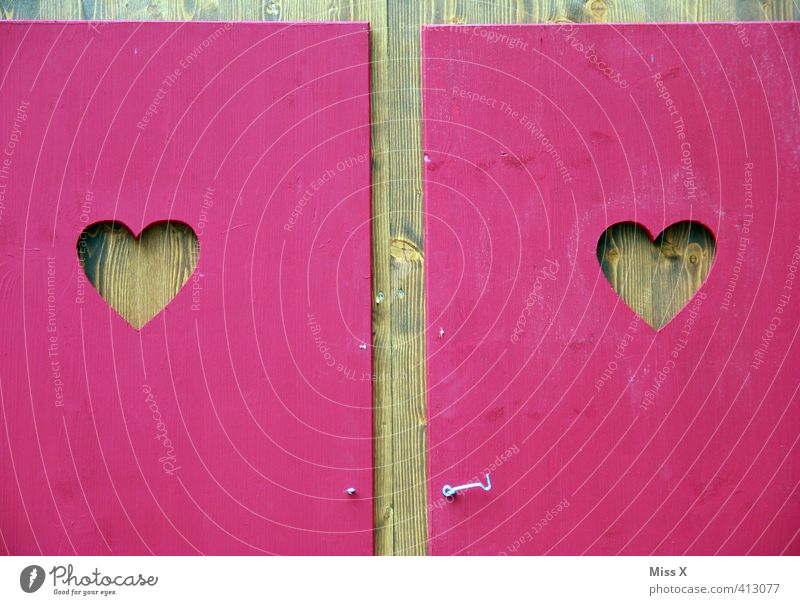 HEART TO HEART Bathroom Fairs & Carnivals Sign Heart Pink Emotions Moody Love Infatuation Romance Heart-shaped Toilet toilet house Shutter Wood Wooden hut