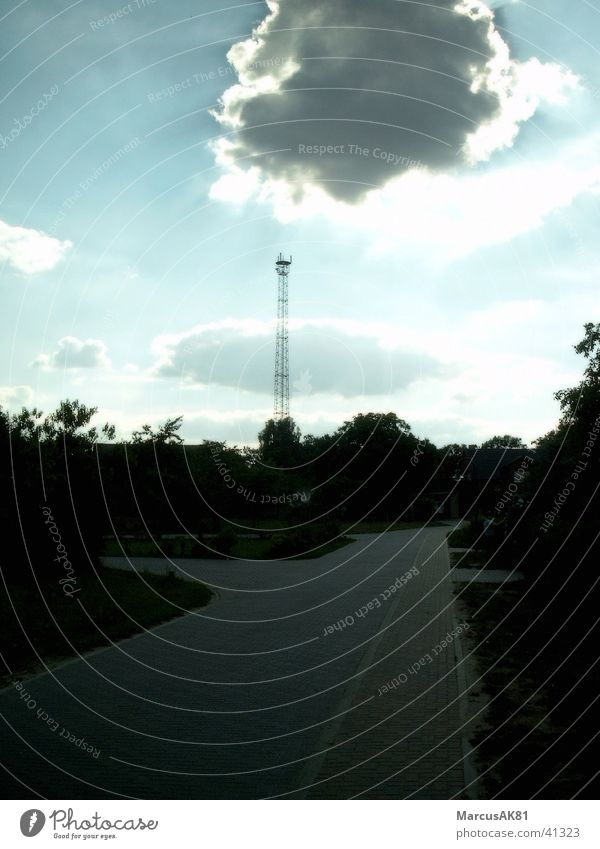 Do you still send, or do you already receive? Broadcasting tower Clouds Radio technology Nature reception
