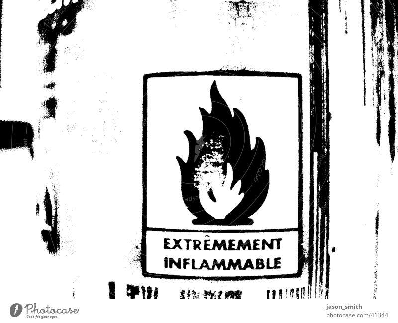 on fire baby Blaze Black White Obscure aerosol can