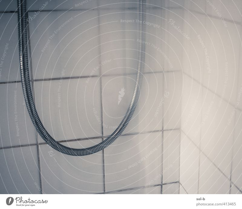 Shower Personal hygiene Living or residing Bathroom Wet Take a shower Shower (Installation) Tile Cleanliness Shower hose White Line Metal Steamed Private life
