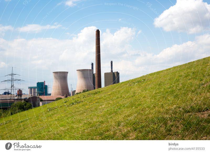 Gas power plant of Hüttenwerke Krupp Mannesmann in Duisburg Hüttenheim Steel factory smelting Natural Gas Power Station Steel production Power generation