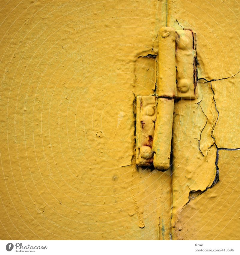 Loneliness Yellow Wall (building) Wall (barrier) Time Broken Threat Transience Change Historic Past Decline Concentrate Attachment Navigation Rust