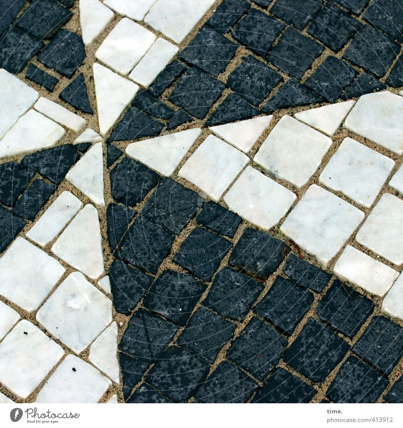 Star | black & white unite Craft (trade) Earth Lanes & trails Stone Mosaic Star (Symbol) Esthetic Sharp-edged Point Black White Design Inspiration Creativity