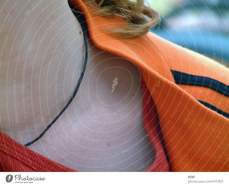 the neck Neckband Woman Orange mirja North Sea