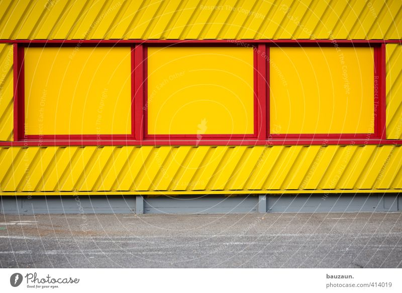 Colour Red Calm Window Yellow Wall (building) Lanes & trails Building Wall (barrier) Gray Stone Line Facade Metal Office Concrete