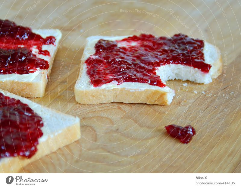 Eating Food Food photograph Nutrition Sweet Cooking & Baking Drop Appetite Delicious Breakfast Bread Patch Baked goods Dough Sandwich Jam