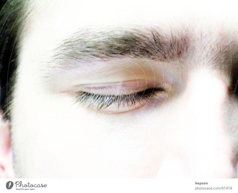 Man Face Eyes Sadness Nose Sleep Closed Grief Pallid Eyelash Eyebrow