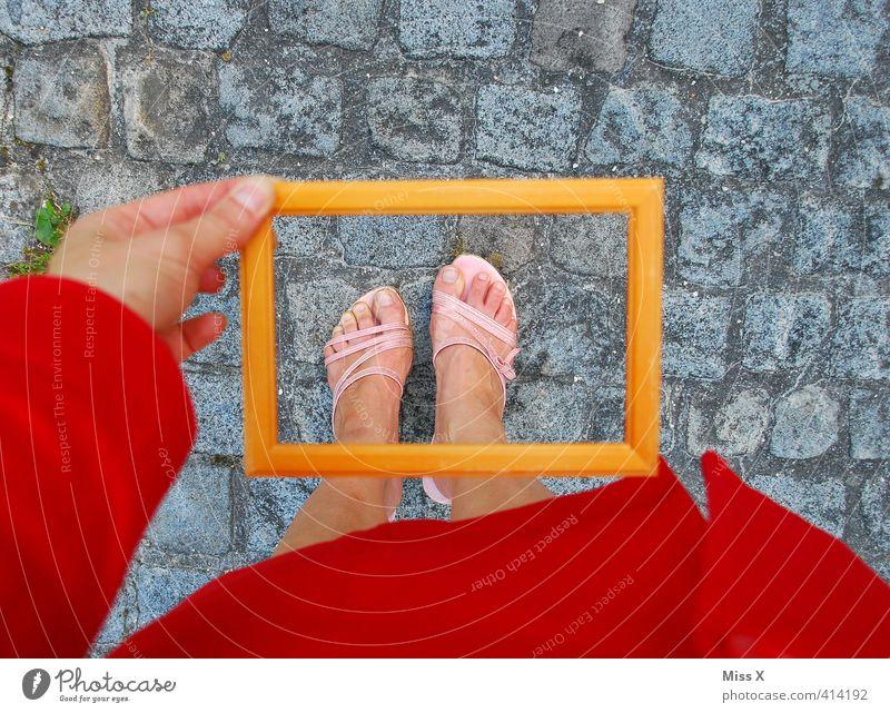 Human being Beautiful Feminine Legs Healthy Feet Health care Footwear Clothing Personal hygiene Frame Toes Picture frame High heels Sandal Focus on
