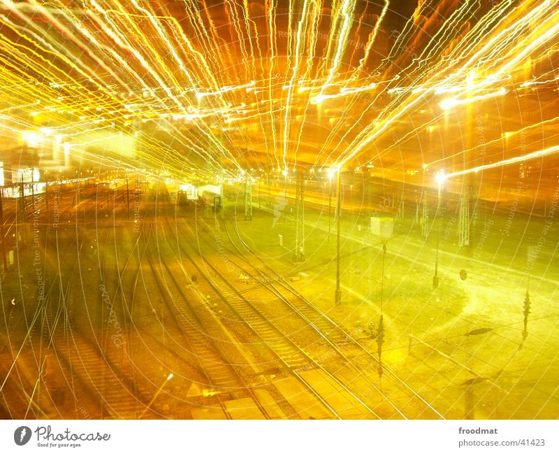 Lamp Railroad Electricity Railroad tracks Train station Zoom effect Control barrier