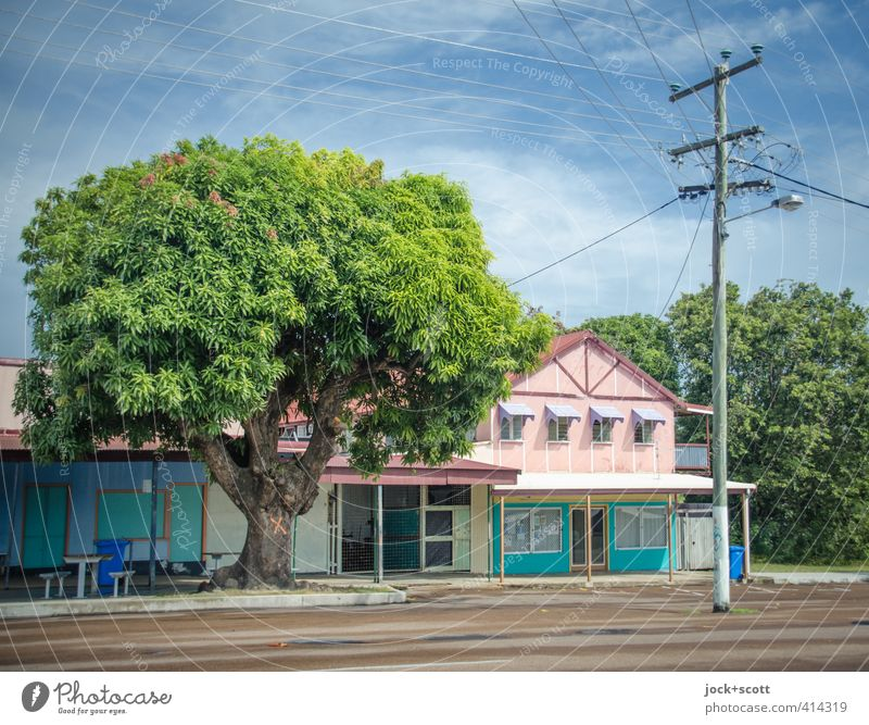 Sky Colour Tree Calm Clouds House (Residential Structure) Far-off places Environment Street Architecture Time Facade Idyll Contentment Authentic