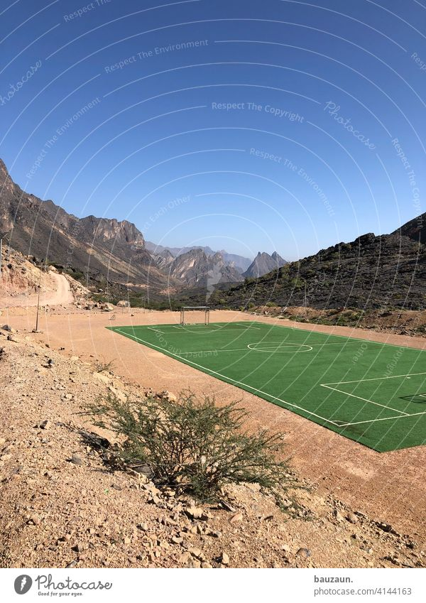 to the football field. Foot ball Sports Goal Football pitch Soccer Goal Deserted Green Sporting grounds Exterior shot Leisure and hobbies Sporting Complex