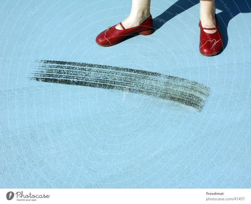 Woman Blue Red Style Feet Footwear Line Legs 2 Adults Tracks Concrete 3 Clothing Modern Cool (slang)