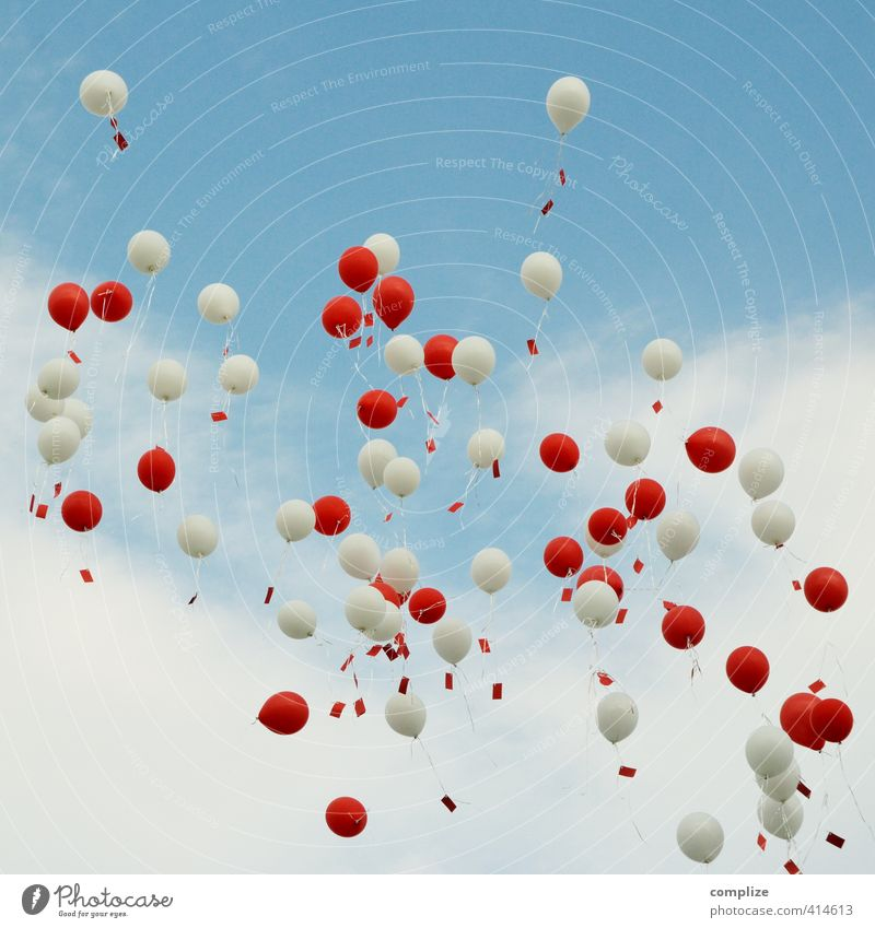 1000 wishes Happy Feasts & Celebrations Wedding Birthday Couple Partner Sky Sign Flying Free Infinity Red White Love Romance Balloon Piece of paper Desire