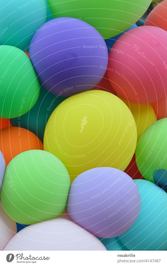 inflated | many colorful balloons Balloon Birthday Firm celebration Party event celebrations glad cheerful fun Helium Gas Decoration variegated Flying Hover