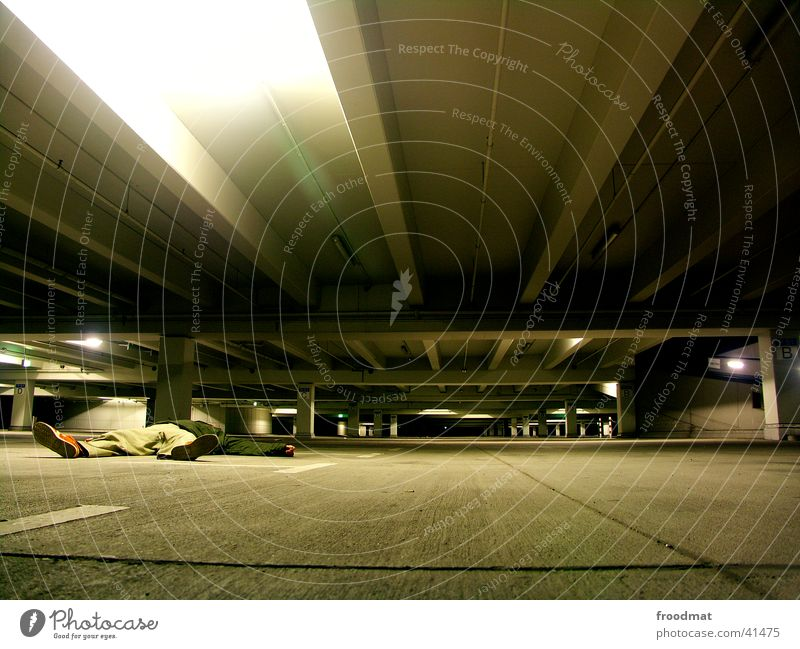Parking garage #2 Garage Concrete Cold Lie Cologne Skylight Empty Night Long exposure Deep froodmat Car Available Light Floor covering got laid