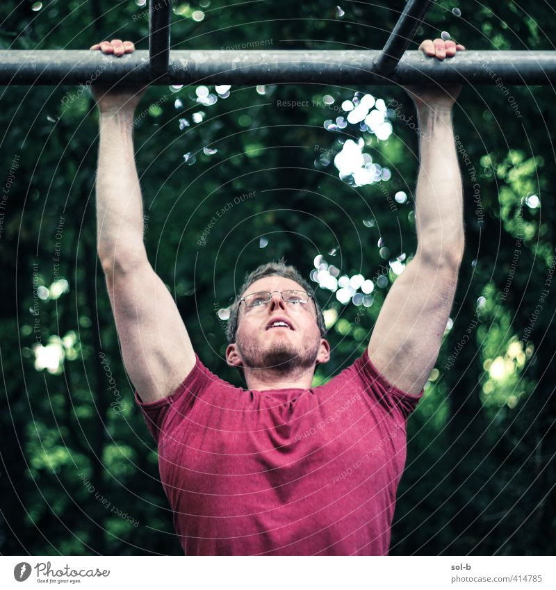 Superman Healthy Athletic Fitness Wellness Life Sportsperson Human being Masculine Young man Youth (Young adults) 1 18 - 30 years Adults Nature Success Muscular
