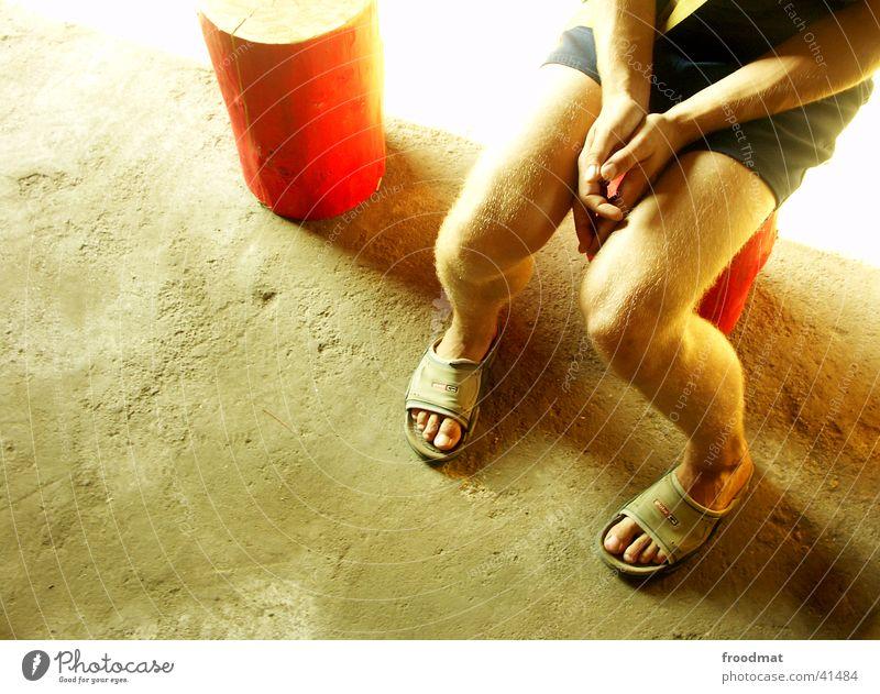 Art barn in nowhere #3 Hand Summer Wood Radiation Transport Legs Floor covering Feet Footwear Orange Bright superlight