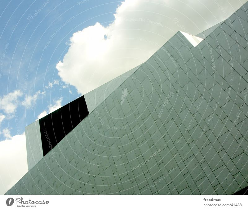 Sky Summer Clouds Architecture Facade Perspective Graphic Helsinki
