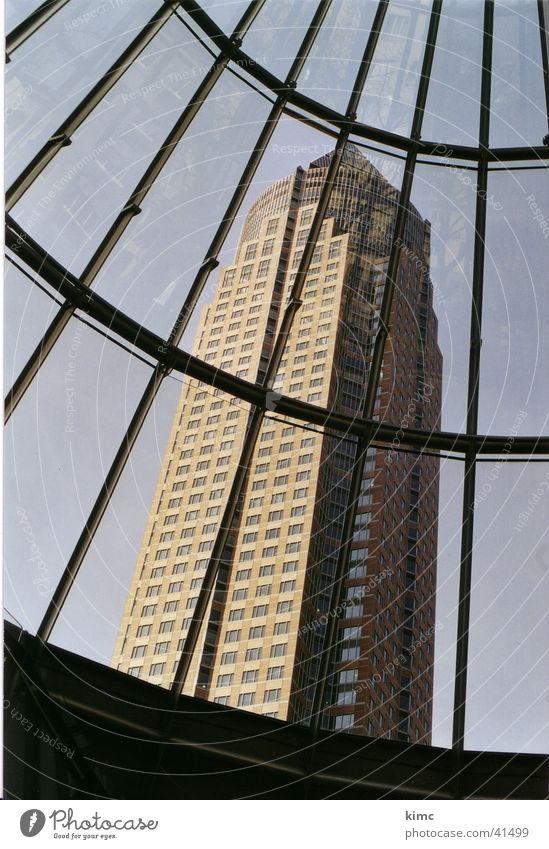 Messeturm Frankfurt Exebition centre Building High-rise Art Historic Architecture from a hilltop Tourist Attraction Sky