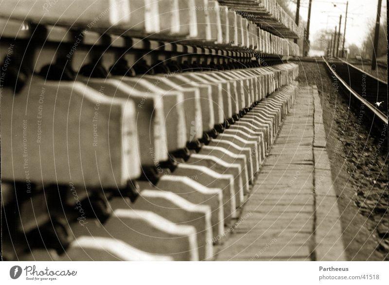 tracks Railroad tracks Loneliness Craft (trade) Wait