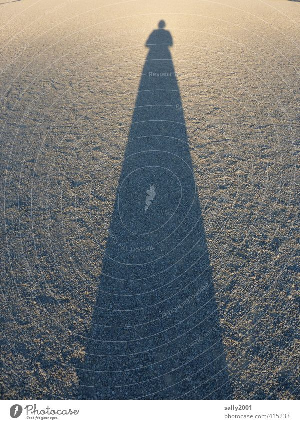 When the shadows get longer... Human being Feminine Woman Adults 1 Lanes & trails Gravel path Skirt Dress Stand Exceptional Fantastic Gigantic Large Long