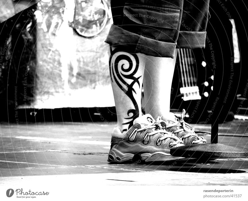 my tight calves Tattoo Shows Footwear Stage Shoelace Woman Legs Feet Ankle