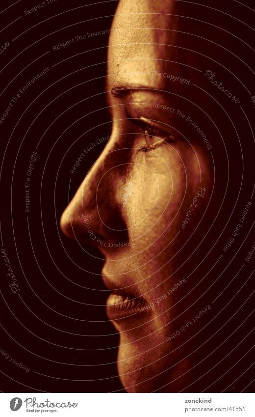 Woman Face Dark Brown