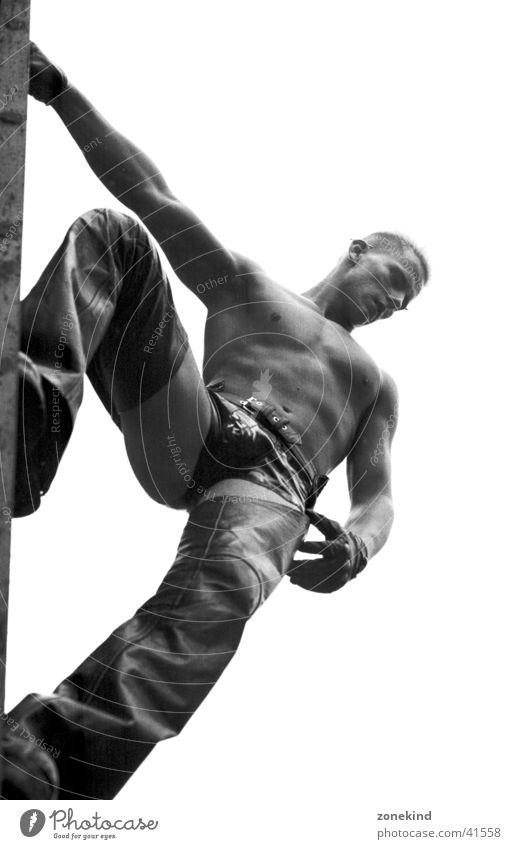 Man Graffiti Climbing